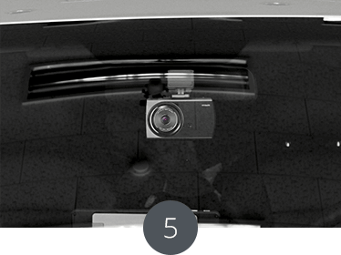 From the outside of the car, check if the lens is located in the middle of the car.